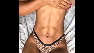sexy fit African chick