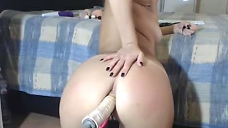 Multiple anal orgasms for machine fucked pawg
