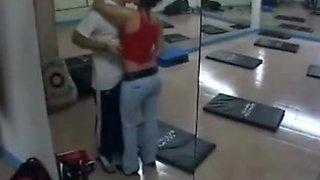 hidden cam - sexy latina gets fucked in gym