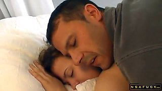 Sleeping Brunette Teen Getting Drilled Deep And Facialized