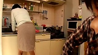 Japanese Woman Kitchen Farts