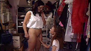 cristina black-lesbian sexy seduce in the thrift store