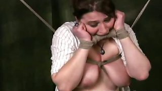 Chubby naked big tit slave