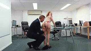 Big Ass Secretary Hardcore With Creampie