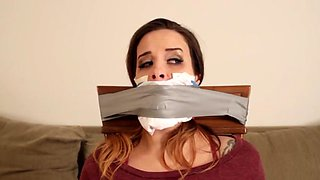 girl chairtied gagged and chloroformed