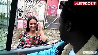 BUMS BUS Czech Nympho Barbara Bieber BBC Drilled On The Van