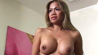 Big Tit Thai MILF Likes Bang Cock