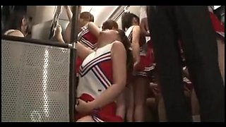 censored oriental cheerleaders panty bus adventure p2